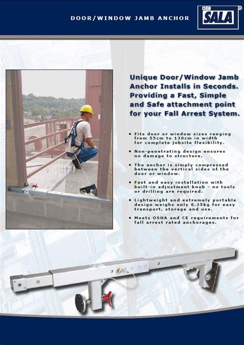 Dbi Sala Window Door Jamb Anchor - dbi sala window door jamb anchor css worksafe