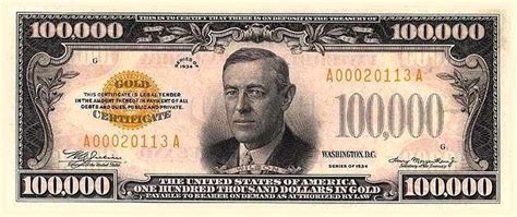 The History Of The $100,000 Bill - Business Insider $100000 Bill