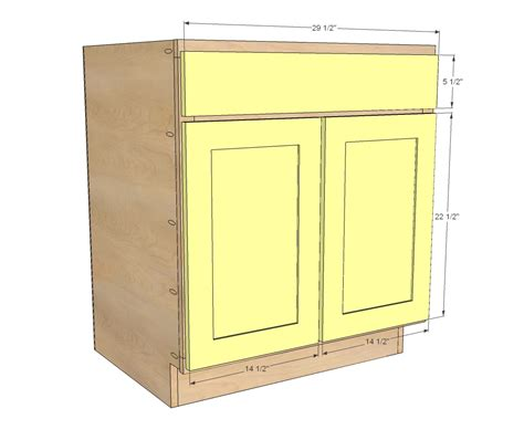 base kitchen cabinet sizes ana white 30 quot sink base momplex vanilla kitchen diy