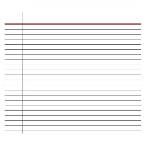 lined paper template for printable writing paper 6 free documents in pdf word