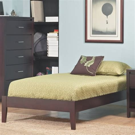 simple platform bed modus furniture nevis simple platform bed in espresso sp23fx