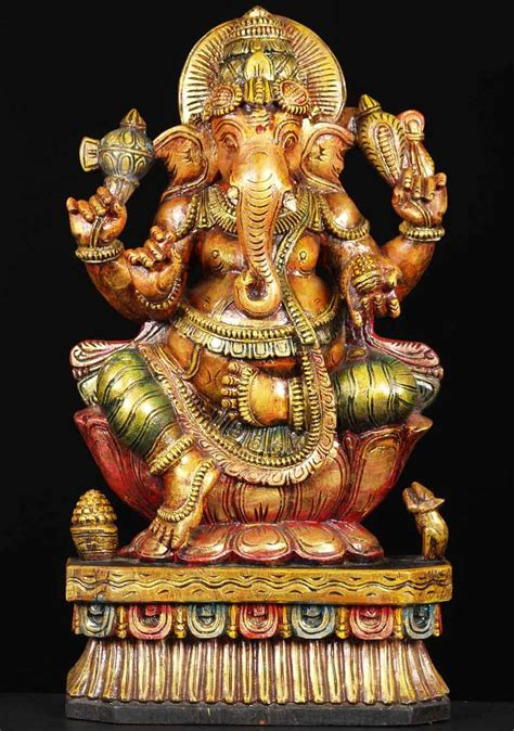 statues of gods sold wood hindu god ganesh statue 24 quot 65w13f hindu