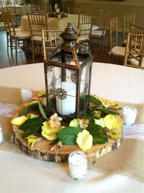 rustic and do it yourself centerpieces with lace and
