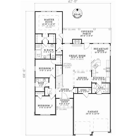 house plans by lot size patio lot size country style house plans 1875 square foot home 2 story 4 bedroom