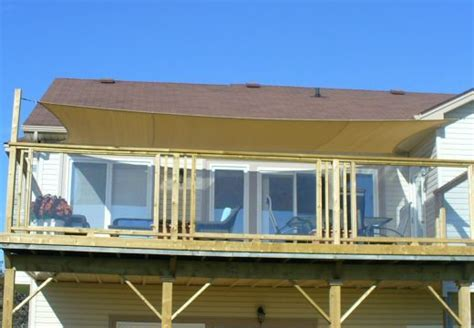 Sail Awnings For Decks by Sail On Deck Outdoor Living Space Ideas