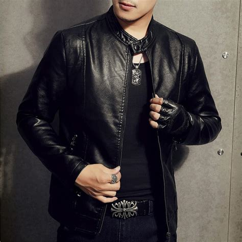 Jaket Leather Casual Style 31 2017 new fashion motorcycle biker leather jacket casual business moto coats business pu