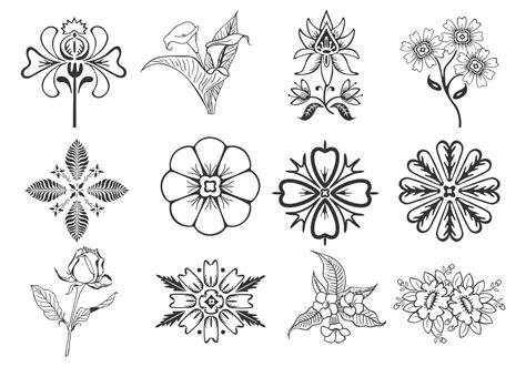 design elements pack floral design elements vector pack download free vector