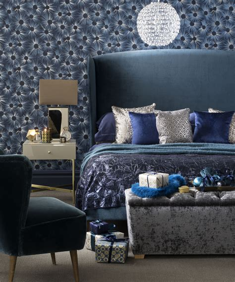 blue and silver bedroom decor christmas bedroom decorating ideas ideal home