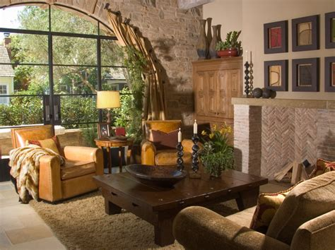 Tuscan Dining Room Set by Tuscan Living Room Stone Accent Wall Mediterranean