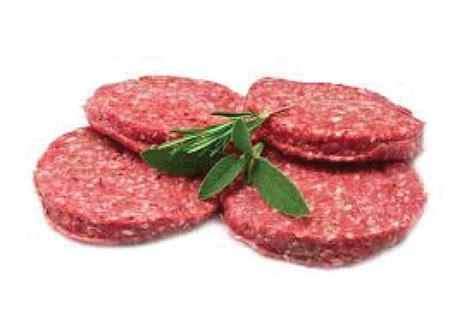 Beef Patties Burger Endura 1kg beef burger patties per kg