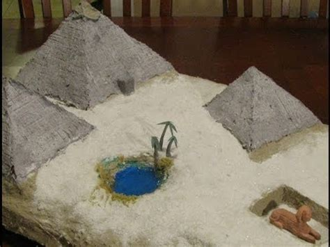 How To Make A Paper Mache Pyramid - make an diorama