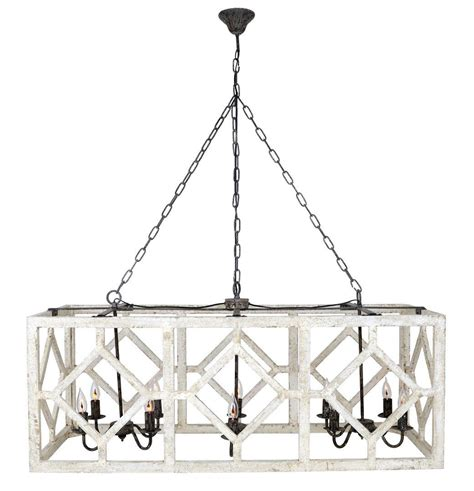 Rectangle Chandelier Geometric Rectangle Chandelier Old White Rectangle