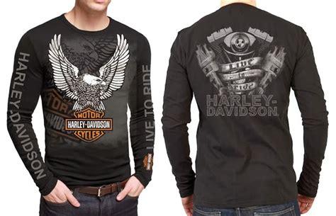 Kaos Longslive Motor Harley Davidson 17 t shirt harley davidson sleeve ls11 toko harley davidson kaos harley davidson t shirt