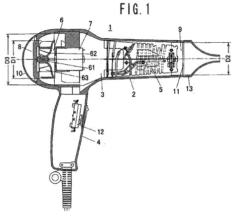 Hair Dryer Technical Description hair dryer patent 1704792