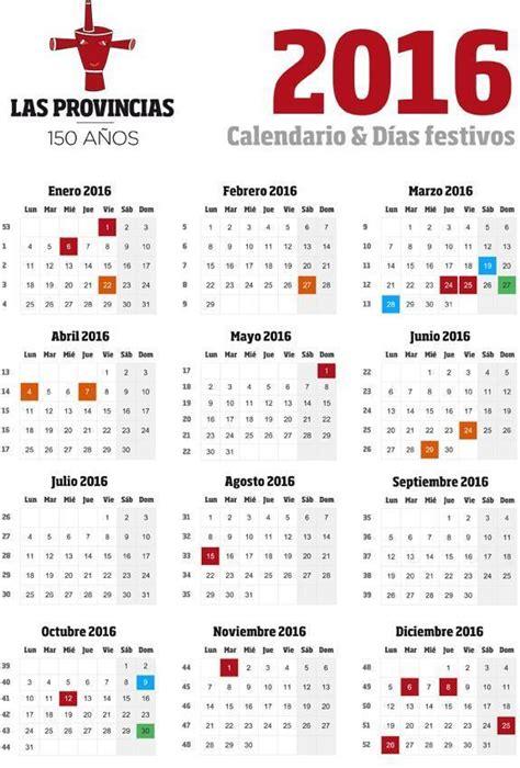 calendario mercado famila 2016 consultar calendario laboral espa 241 a 2016 descargar en pdf