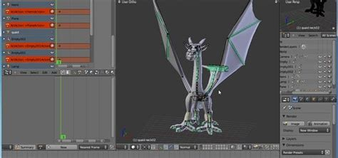 blender tutorial for animation how to animate a dragon in flight with blender animation