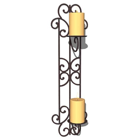 Candelabra Wall Sconces Wall Candle Holders 3d Model Formfonts 3d Models Amp Textures