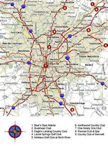 atlanta area map pin atlanta area map on