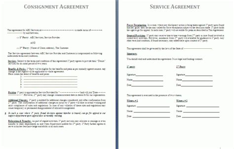 consignment shop contract template consignment agreement template by agreementstemplates org