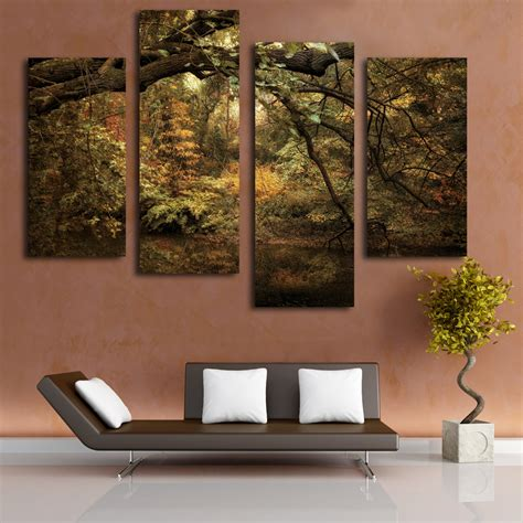 large canvas for living room forest painting landscape canvas picture large canvas cheap painting on living room in