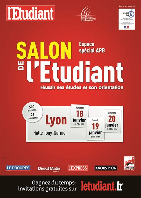 salon de l 233 tudiant 224 lyon ensemble en r 233 gions