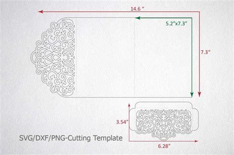 tri fold wedding invitation pocket envelope svg template tri fold by kartcreation