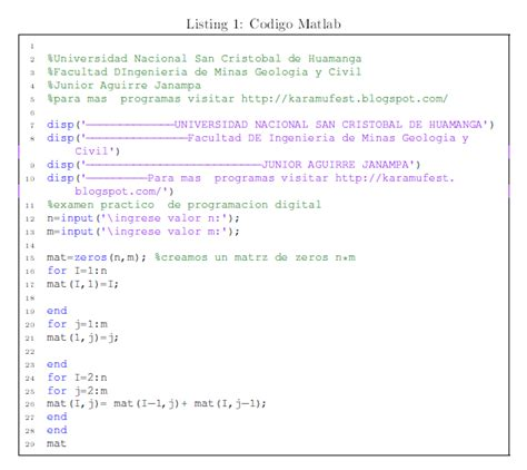 imagenes en latex pdf no molestar insertar c 243 digo fuente de matlab y c en