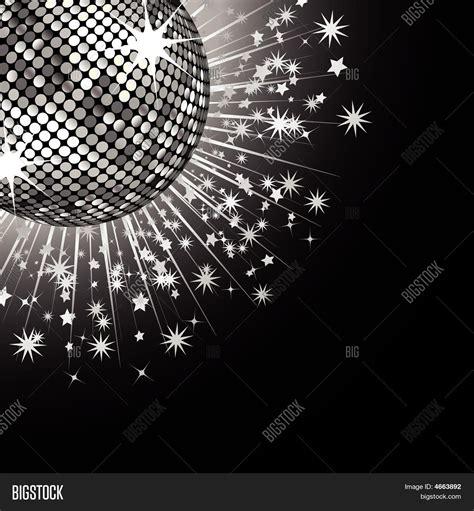 Disco Black silver disco and stock vector stock photos