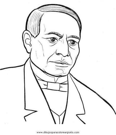 imagenes de benito juarez faciles para dibujar dibujos benito juarez