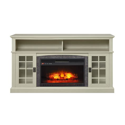 White Electric Fireplace Tv Stand Media Fireplace Tv Stand Tvs Up To 65 Quot Black White Electric Heater Center Wood Ebay