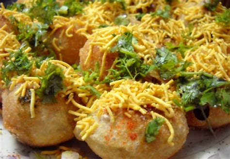 sev puri indian canape by foodpassion