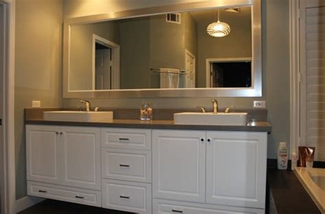 Vanity Big by Custom Sink Vanity Whits Cabinets Pendents Lighting Big Custom Bathroom
