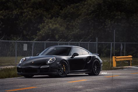 porsche black 911 black porsche 911 turbo s adv5 0 m v2 cs series wheels