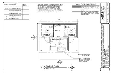 Concession Stand Floor Plans by Restrooms Concession Standard Romtec Inc