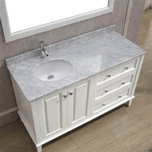 60 Inch Vanity Offset Sink Ly55ab White