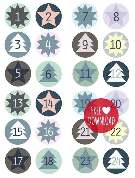 free printable advent calendar numbers adventskalender zahlen zum downloaden ausdrucken