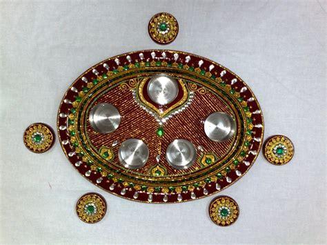 decorated aarti thali www.ranjanaarts.com   indian wedding