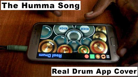 real drum app tutorial the humma song ok janu real drum app cover youtube