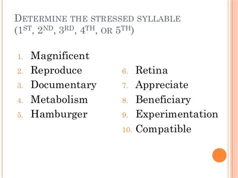 how many syllables in comfortable stressed syllable