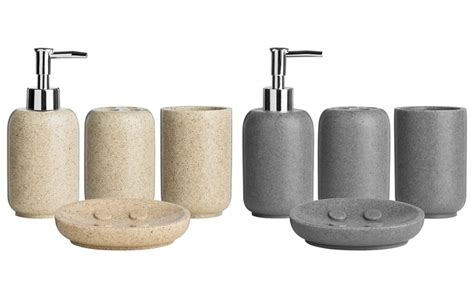 Sandstone Bathroom Accessories Effect Bathroom Accessories Groupon Goods