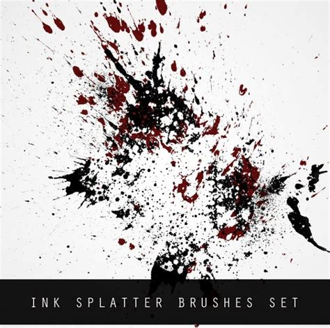 ink splatter brush set 463 brushking