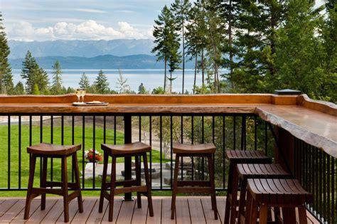 deck railing bar top acutech works outdoor bar railings acutech works