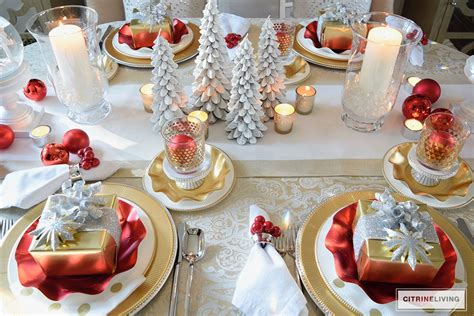 modern christmas tablescapes    feel merry bright beau coup blog