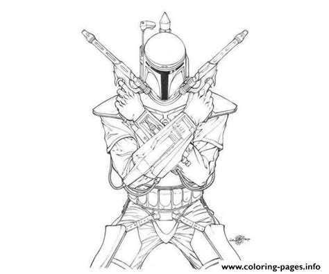 wars boba fett coloring pages printable