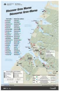 map of canada national parks parks canada gros morne national park map