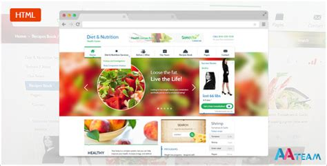 Diet Nutrition Health Center Responsive Html5 By Aa Team Themeforest Nutrition Website Templates