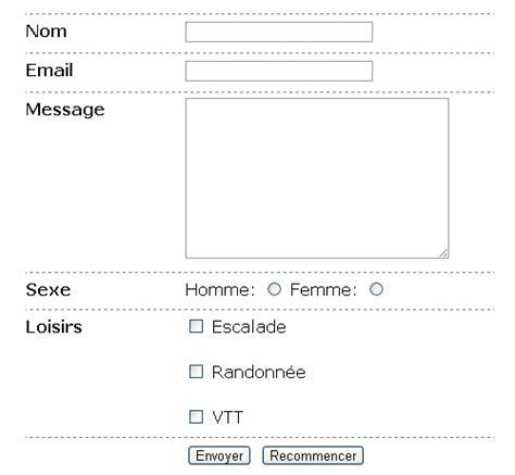tutoriel tableau css formulaire de contact html css astuces webmaster ch