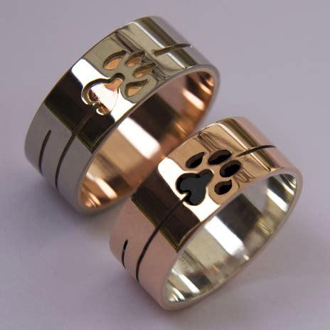 wolf and lynx doodem clan wedding rings