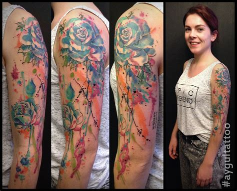 watercolor tattoo sleeve aygul