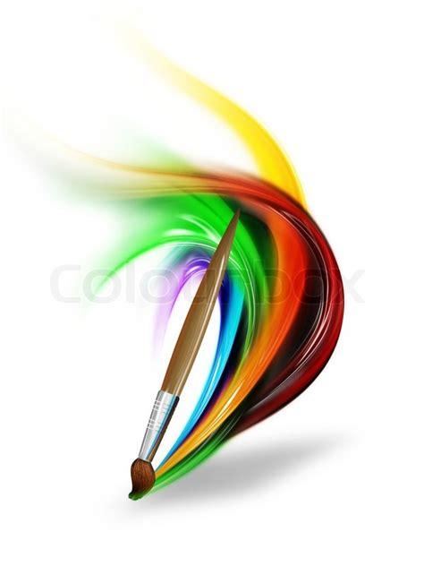 free painting no pinsel zeichnen einen regenbogen auf einem wei 223 en